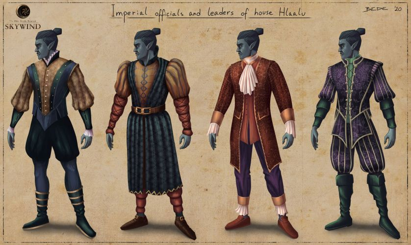 Dunmer_Garbs_Imperial_Officials_And_Hlaalu_Leaders_by_Zsolt_Bede