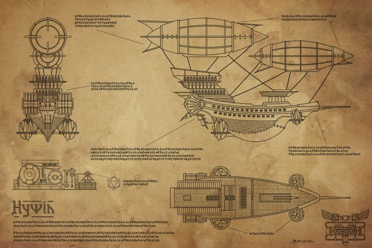 Airship Blueprint Hywin
